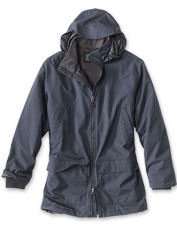 The waterproof Cascade Bone-Dry Hooded Parka is designed for warmth and comfort.