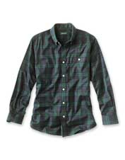 Enjoy exceptional comfort and wrinkle-free good looks wearing our festive tartan stretch shirt.
