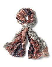 Our Mixed Floral Printed Oblong Scarf adds interest to your outfits across the seasons.