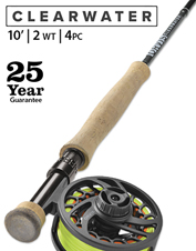 Improved design meets superior value in the Clearwater 2-Weight 10' Fly Rod.