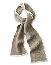 The plush Left Bank Double-Knit Scarf features a blend of merino wool and other luxury fibers.