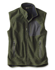 Face a stiff breeze with ease in our customer-favorite Windproof Sweater Fleece Vest.