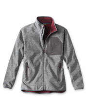 We gave our Windproof Sweater Fleece Jacket a new exterior, but kept its technical features.