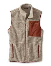 High-pile sherpa fleece makes this exquisite vest feel every bit as good as it looks.