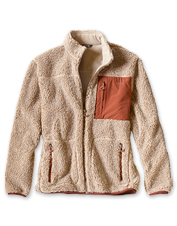 High-pile berber sherpa fleece adds impressive warmth and comfort to our upgraded jacket.