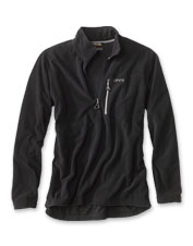 A microgrid pattern is the secret behind the impressive warmth in our quarter-zip fleece.