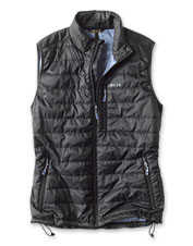 Feel good about wearing this comfortable layer: Our Drift Vest is made from recycled materials.