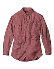 Pure cotton, brushed for comfort, gives our Perfect Flannel Solid Shirt so much appeal.