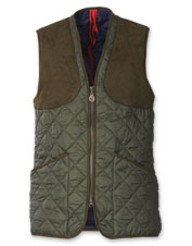 Laksen combines style and functionality in this handsome Quilted Shooting Vest.