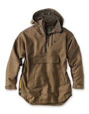Teflon-coated Scottish wool in this tweed hunting anorak by Laksen keeps you snug and dry.