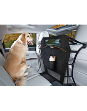 The Backseat Barrier keeps your dog (and his hair) in his part of the car.