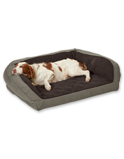 The sport-inspired Orvis Heritage AirFoam Bolster Bed is engineered to support the active dog.