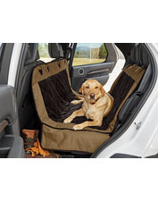 This hammock-style Heritage car seat protector for dogs boasts soft, organic cotton twill.
