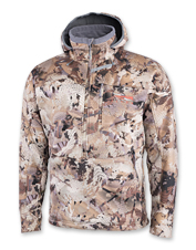 Stalk waterfowl in comfort, even on blustery days, wearing the windproof Sitka Dakota Hoody.