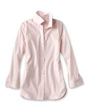 Performance stretch fabric and wrinkle-free convenience make this tunic ideal for travel.