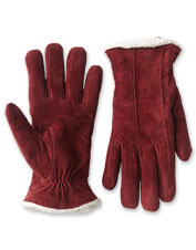These classically styled suede gloves are lined in sumptuous sherpa fleece.