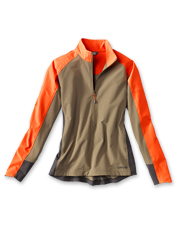This Women's PRO LT Softshell Pullover has the same performance features of his, made to fit you.