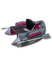 The Outcast Fish Cat Cruzer is a leveled-up float tube with features for comfort and ease.