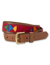 The woven fish motif on our Latigo Leather Pescador Belt speaks to your sporting passion.