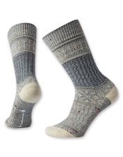 A textural garter stitch lends extra appeal to these Smartwool crew socks, in soft merino wool.