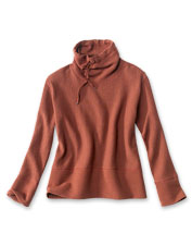 Our Textured Cowl Sweatshirt offers a supremely comfortable option for whatever the day brings.