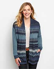 Our Indigo Mixed Pattern Cardigan is the one you'll wear with denim and leggings all season.