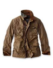 The Barbour Teddon offers a tailored fit and throwback styling in a smart waxed cotton jacket.