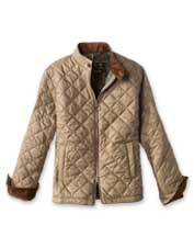 The handsome diamond-quilted Biddel from Barbour is a box jacket with contemporary styling.