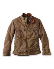 Welcome foul-weather days in the comfort of the waxed cotton Weldon Jacket from Barbour.