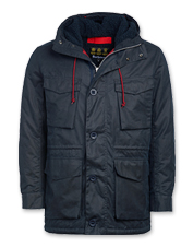 The winter-ready Barbour Ordel insulated waxed cotton jacket meets cold, wet weather in style.