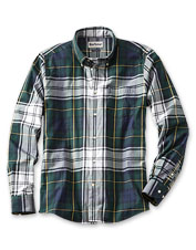 The tartan shirt reimagined: An outsized Highland check gives this Barbour shirt its appeal.