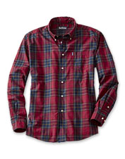 Elevate your favorite denim or cords with the Barbour Wetheram Shirt, in vibrant red tartan.