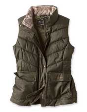 Layer on the comfort in cold weather wearing the Barbour Kingston Gilet for women.