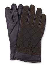 Keep your hands comfortably snug in these leather and waxed cotton gloves from Barbour.