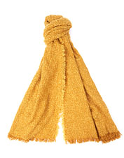 Light up the season's grayest days wearing this cheerful bouclé knit wrap from Barbour.