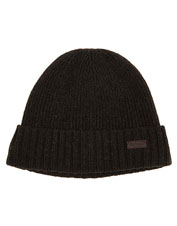 Indulge in comfort—reach for the rib-knit Barbour Carlton Beanie, in a fleece-lined wool blend.