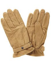 Leather makes these Barbour gloves attractive, but a Thinsulate fleece lining keeps them cozy.