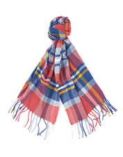 Warm your neck and lift your spirits wearing the Fairlead Check Scarf from Barbour.
