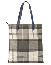 Handbag or shopping bag—the well-appointed Tain Tartan from Barbour answers to both.