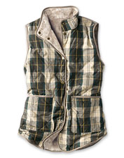 Enjoy two styles in a single vest when you opt for the reversible Mayapple Gilet by Barbour.