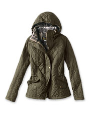 The diamond-quilted Millfire Jacket by Barbour offers impressive three-season versatility.