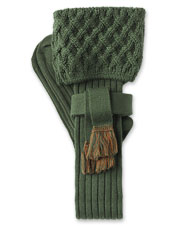 Accessorize your breeks with these handsome shooting stockings and flashes in a merino blend.