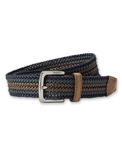 Our multi-colored Bakersfield Stretch Woven Belt is a stylish way to elevate your outfits.