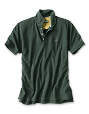 Our incredibly soft polo shirt features an embroidered fly and shape-retaining stretch.