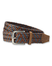 The harness buckle adds a classic finish to our handsome Contrast Braided Stretch Belt.
