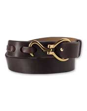 The leather Farrier's Belt is a perfect complement to the equestrian's attire.