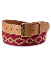 The artisan woven overlay in our Aries Belt recalls a classic Argentinian polo pattern.