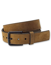 Wear it anywhere—this appealing belt comes in rugged Italian suede with a natty black buckle.