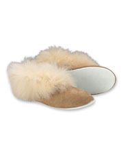 Shepherd of Sweden makes these cozy slippers in plush, high-quality genuine sheepskin.