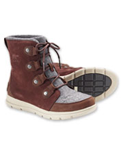 Enjoy grippy traction on every wintry adventure in Sorel Explorer Joan Felt Waterproof Boots.
